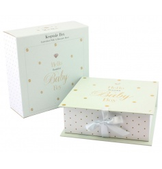 Baby boy keepsake box from the Mad Dots collection
