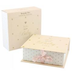 Pretty pink keepsake box for a baby girl