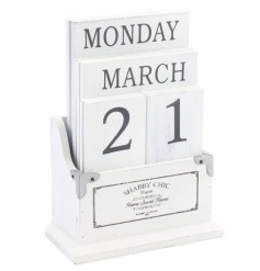 A practical and stylish perpetual calendar from the popular Shabby Chic range. A great desk accessory and home essential