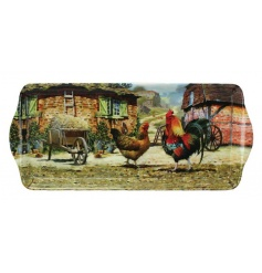Medium sized tray from the new Cockerel & Hen collection