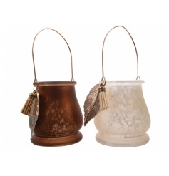2 assorted on trend lanterns with feather embellishments. A top trending product.