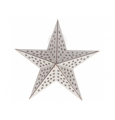 A chic wooden star light with sucker back enabling you to display on walls and windows.