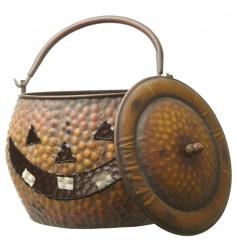 Pumpkin Metal Basket, Large
