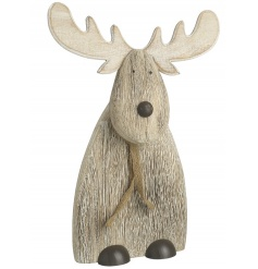 Standing deer decoration with scarf and antlers
