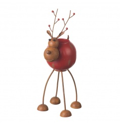 A charming and unique reindeer decoration with t-light. An adorable and practical seasonal item.
