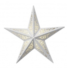 Every home needs a shining star and what's better than this gorgeous patterned one with LED lights?!