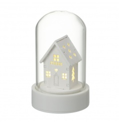 Add a warming glow to your home this season with this modern LED house in dome.