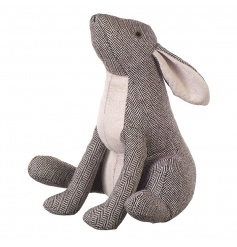 A fine quality herringbone rabbit doorstop. A practical and stylish decoration for the home.