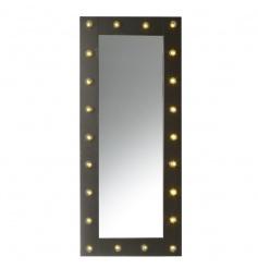 Funky black metal framed mirror