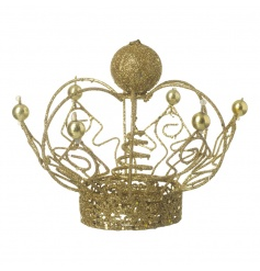 Finish off that festive tree with this sparkling gold tree topper. Fit for a king or queen!