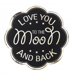 Love You To The Moon Plaque