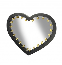 Extra Large Heart Mirror With Lights 70.5cm