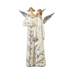 Place this beautiful double angel decoration in your home this season.