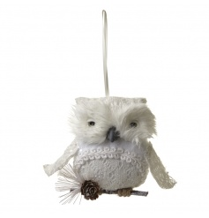 Delicate hanging white owl