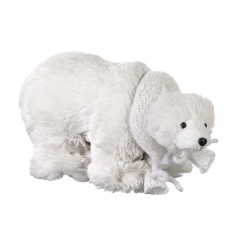 A beautiful polar bear decoration with a beautiful and soft to touch fabric.