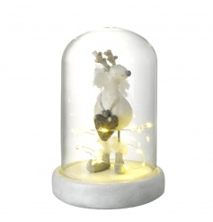 Add some warmth to the home this season with this gorgeous dome encasing an enchanting reindeer ornament.