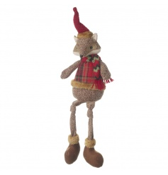 Add some woodland charm to the home this season with this adorable sitting fox decoration.