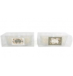 An assortment of 2 candle pot sets in warming winter fragrances. In a beautiful cut glass effect design.
