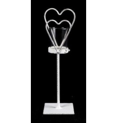Metal Heart Candle Holder