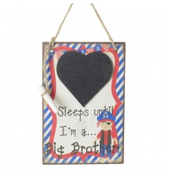 A charming pirate style countdown plaque with Sleeps Until I'm A Big Brother.