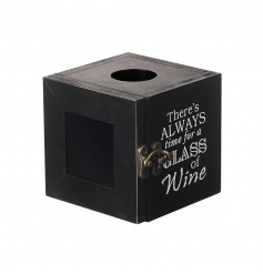 Quirky brown wooden cork box