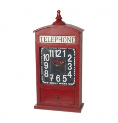 Quirky London styled telephone box clock
