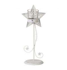 A stylish and chic metal t-light holder in a star design. A beautiful seasonal home accessory.