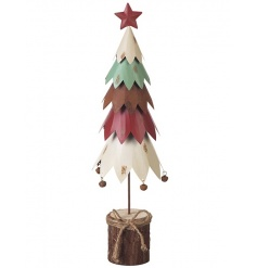 Multicoloured Metal Christmas Tree 42cm