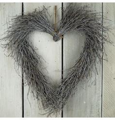 A beautiful birch twig wreath with a whitewashed finish.