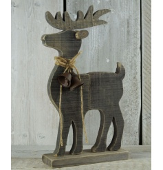 Simplistic styled standing driftwood reindeer