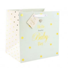 Baby boy gift bag from the popular Mad Dots collection