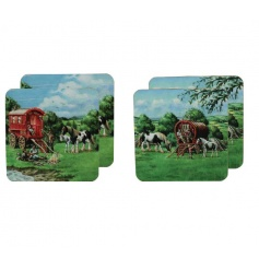 Travellers Styled Set of 4 Coasters