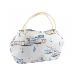 Stylish and practical beach bag with Sail Away design