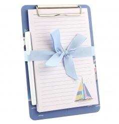 Clipboard pad and pen from the new Sail Away collection