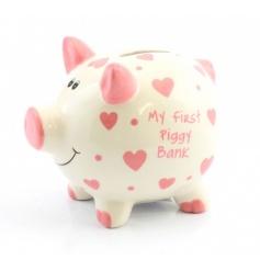 Large My First Piggy Bank Pink