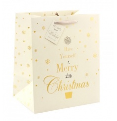 A stunning festive gift bag with popular slogan, ribbon hanger and tag. Finished with a beautiful diamante snowflake.