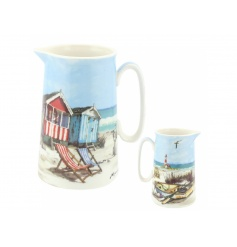 A stylish jug with a charming Sandy Bay coastal design. A lovely home accessory.