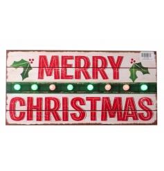 Add some festive charm to the home this season with this vintage inspired LED Merry Christmas sign.