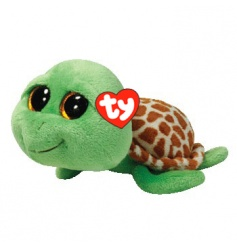 Cute Zippy Turtle TY soft toy from the Beanie Boo collection