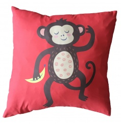 A bold and colourful monkey cushion with insert included.