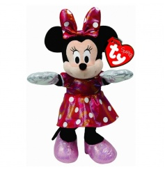 High quality Minnie Mouse soft toy with Red and white polka dot outfit and sound