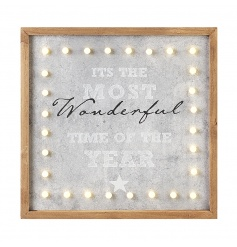 """Its The Most Wonderful Time Of The Year"" LED wall decoration"