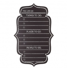 A stylish and practical chalkboard with things to do, places to go and people to see.