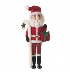 A gorgeous santa decoration made from felt.
