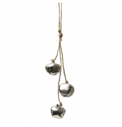 A Christmas essential! Adorn your home and tree with this bundle of rustic silver bells with jute hanger.