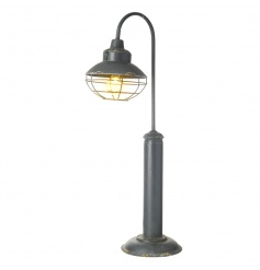 A rustic iron street light style LED table lamp. A unique and stylish home accessory.