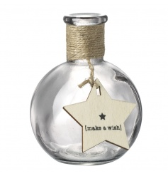 Make a wish with this pretty decorative bottle featuring star shaped sign.