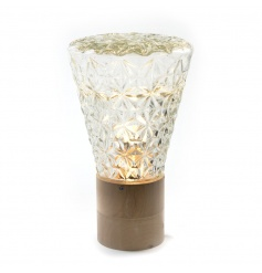 Add some vintage style to the home with this stunning lamp. The decorative crystal glass is stunning
