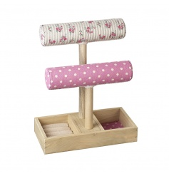A pretty ditsy floral and polkadot jewellery holder. Multiple compartments for those special items.