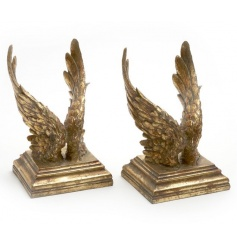 Stunning antique gold angel wings. A great gift and unique home accessory which is on our wish list this season!